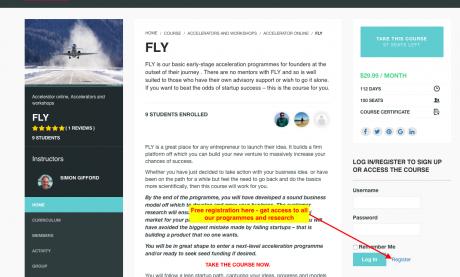 FLY register popup