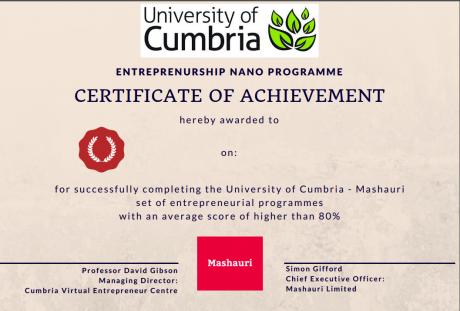 Cumbria draft certificate nano